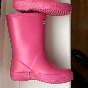 Kids Pink Hunter Boots size 9.